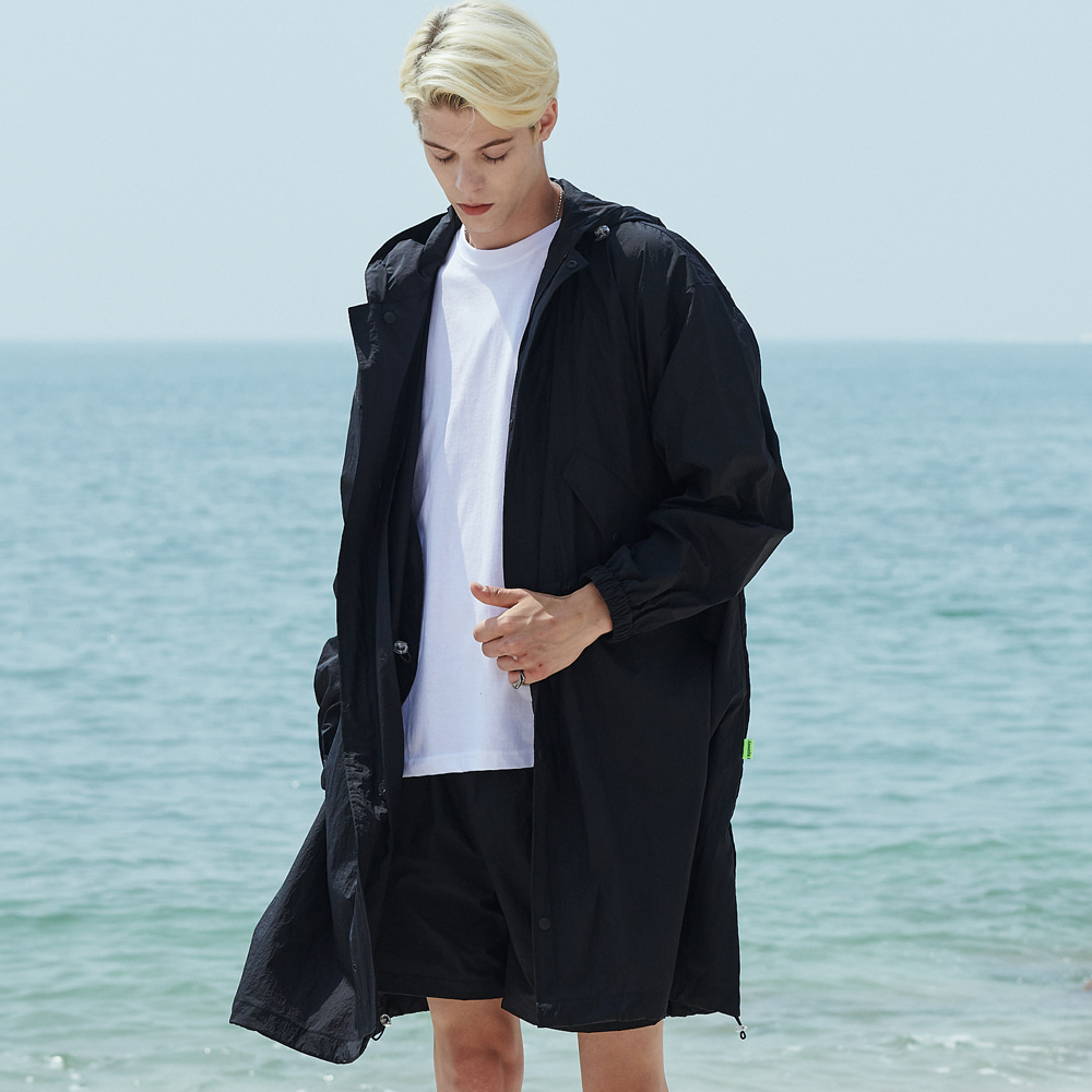 [언아웃핏]UNISEX OVERFIT RAIN FIELD JACKET BLACK