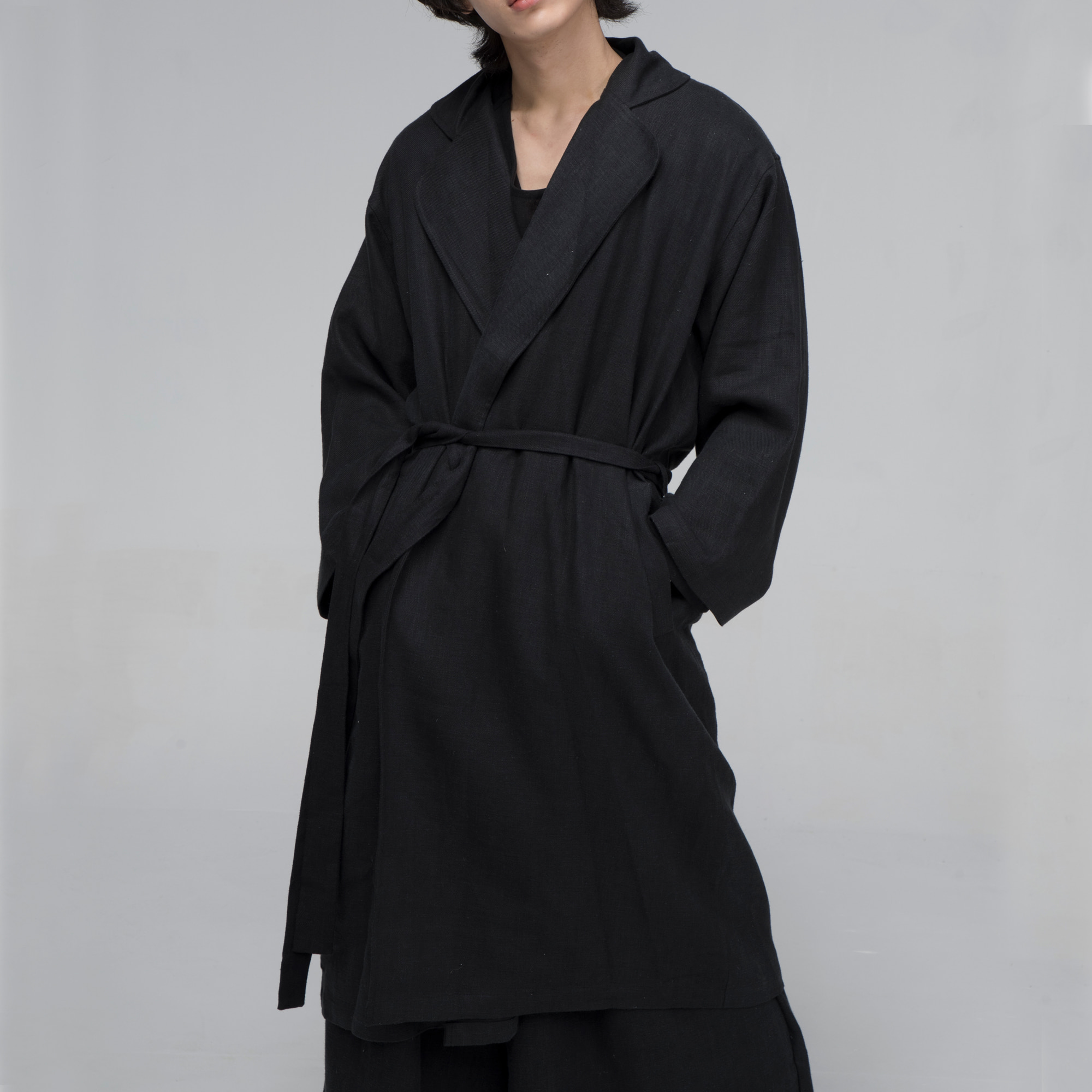[말렌] unisex trench coat black