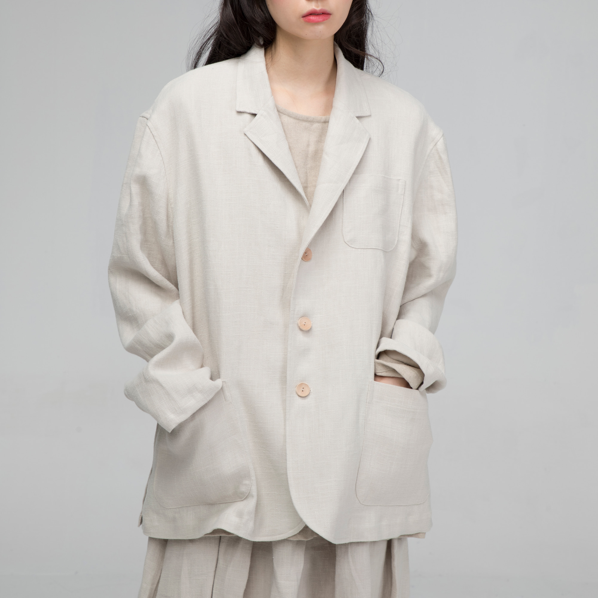 [말렌] unisex unisex over jacket beige
