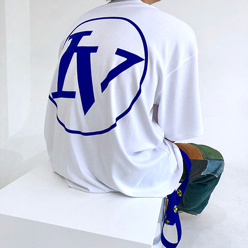 [4BLESS] Circle High Neck Over T-shirts White