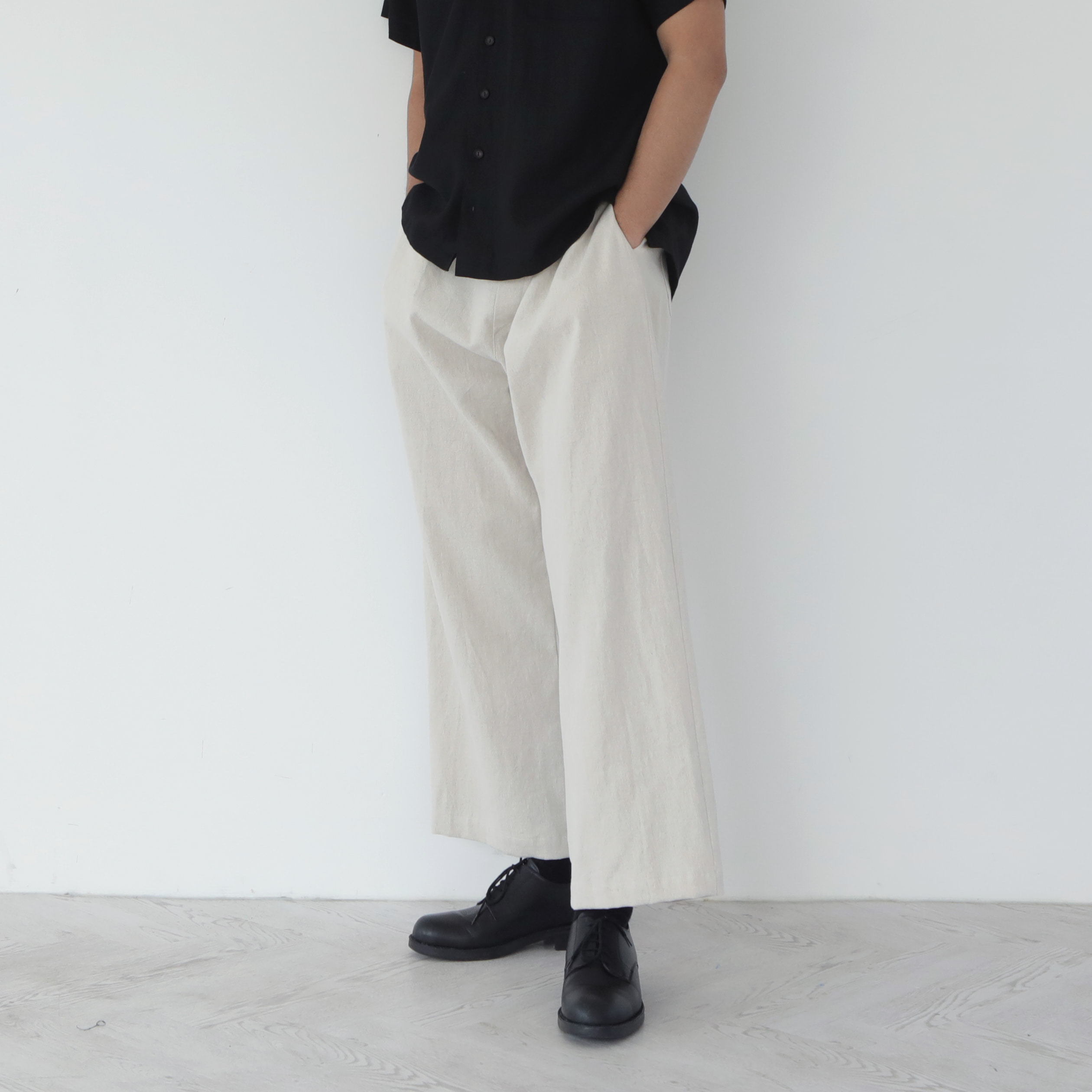 [말렌] unisex straight pants beige