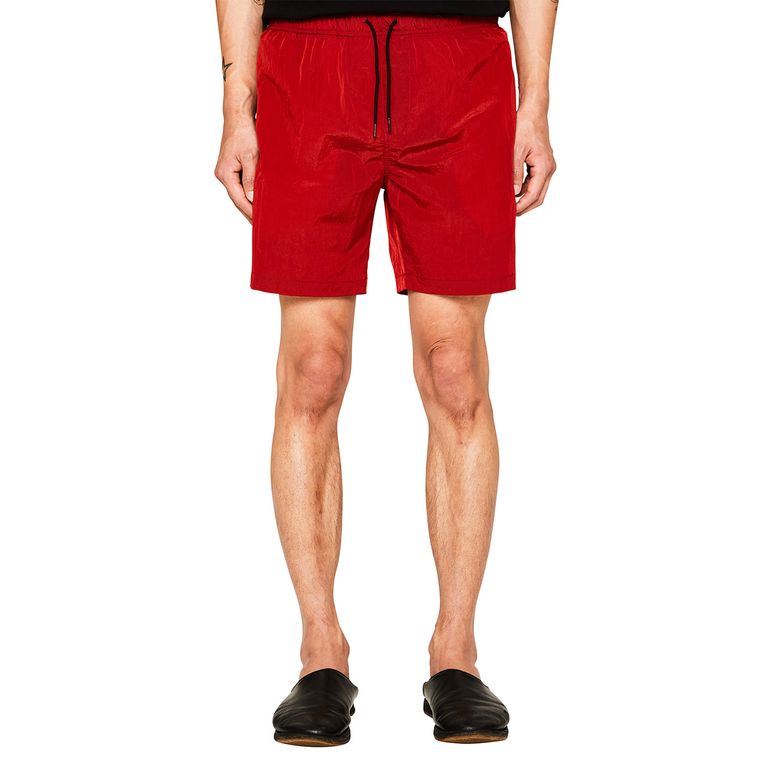 [랩 101] RED WRINKLE NYLON SHORTS