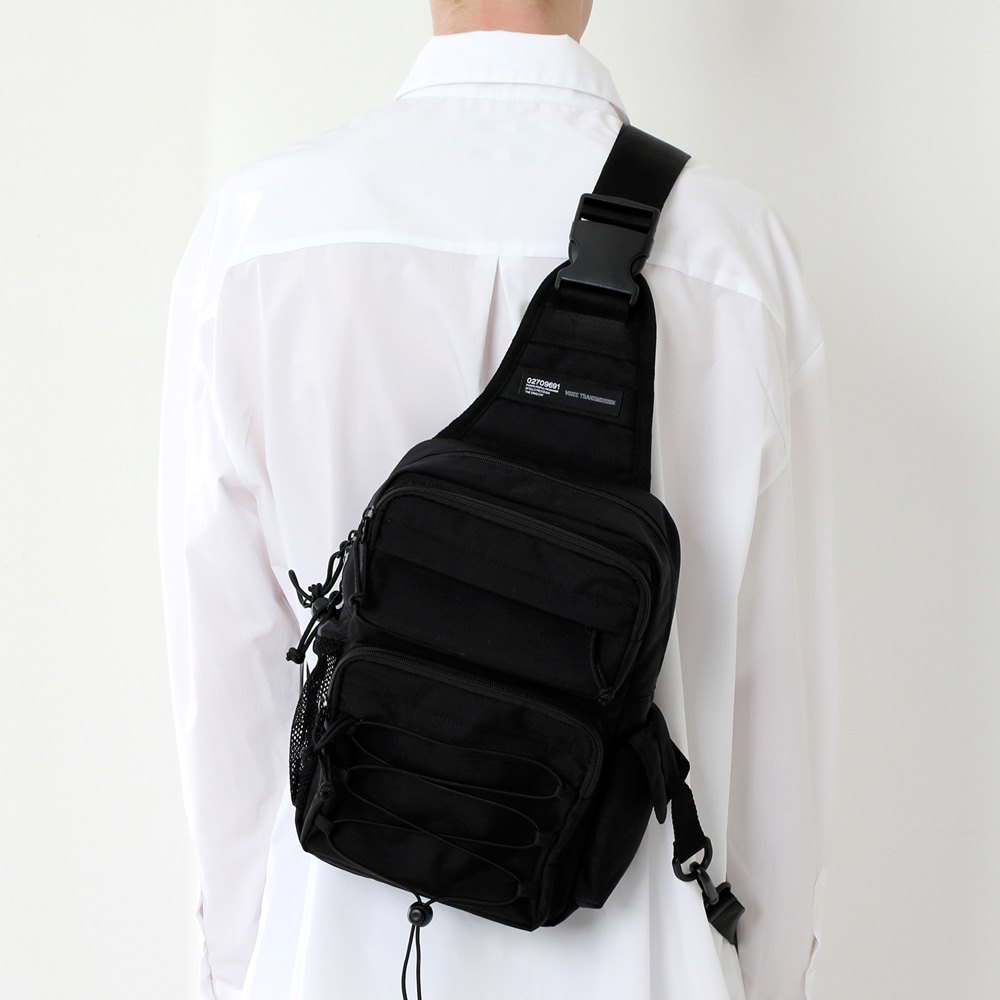 [피스메이커]CORDURA TECH SLING BAG (ALL BLACK)