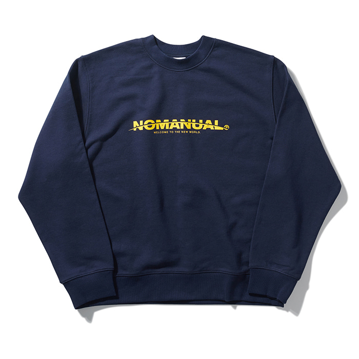 [노매뉴얼] NEW WORLD SWEATSHIRT - NAVY