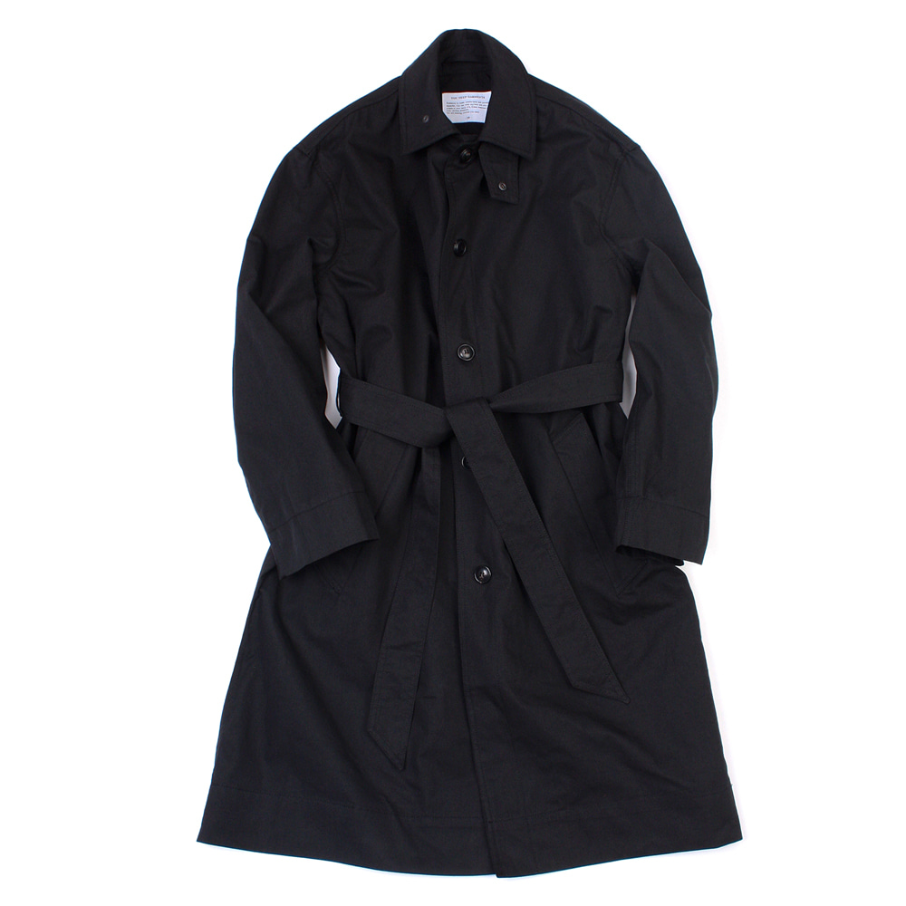 [유니드가먼츠]BELTED TRENCH COAT BLACK