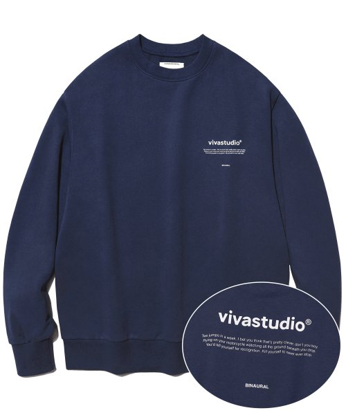[비바스튜디오] NEW BINAURAL CREWNECK IA [NAVY] 결제창