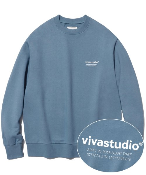 [비바스튜디오] LOCATION LOGO CREWNECK IA [PASTEL BLUE] 결제창