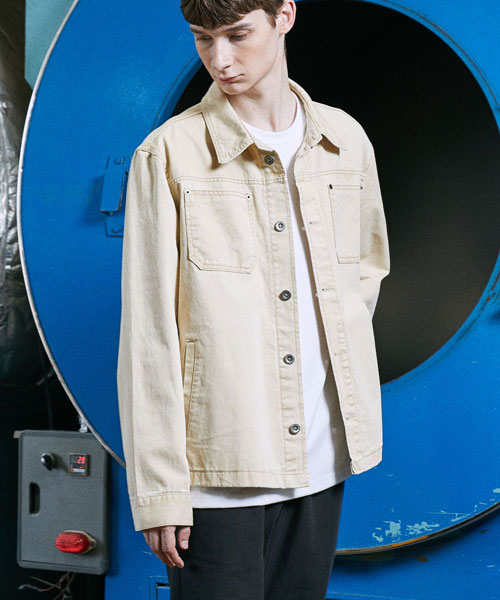 [밸런스우드] FORCE LIP POCKET JACKET (LIGHT BEIGE)