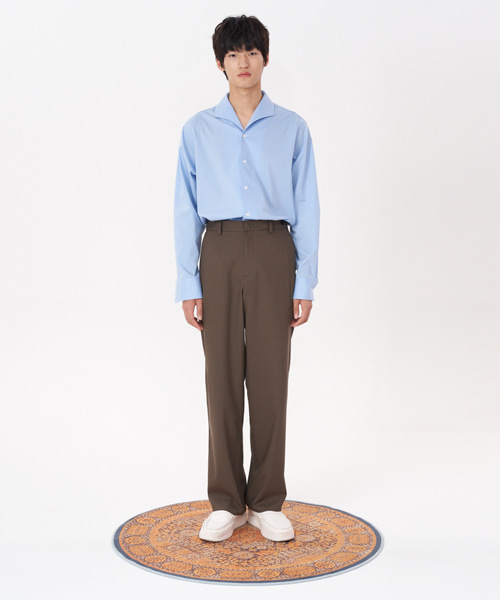 [에스티유] Loosefit slacks brown