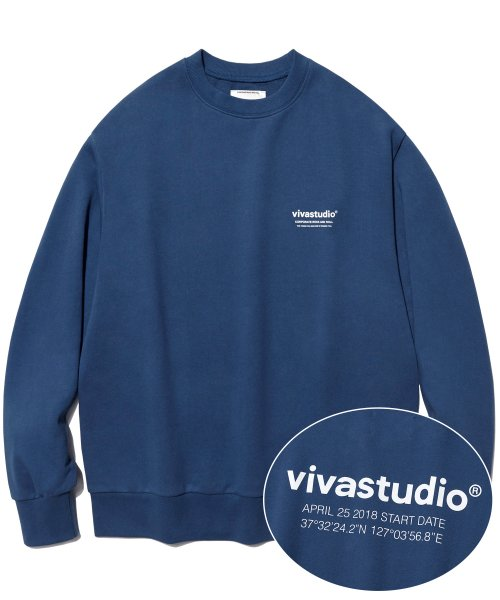 [비바스튜디오] LOCATION LOGO CREWNECK IA [INDIGO BLUE] 결제창