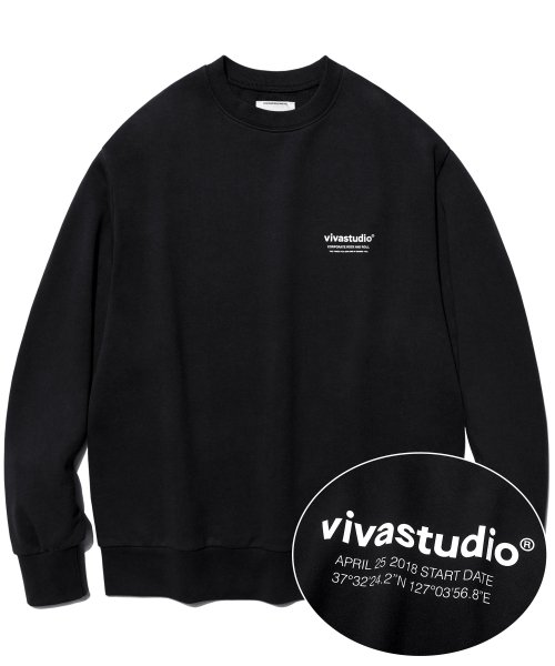 [비바스튜디오] LOCATION LOGO CREWNECK IA [BLACK] 결제창