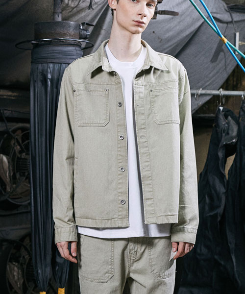 [밸런스우드] FORCE LIP POCKET JACKET (LIGHT KHAKI)