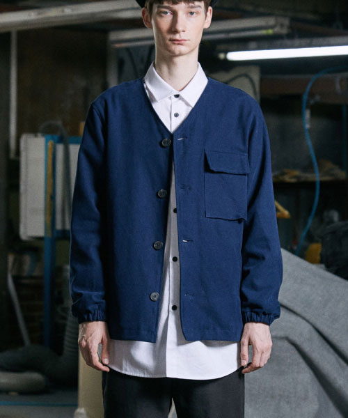 [밸런스우드] MALU V-NECK JACKET (NAVY)