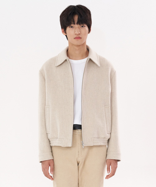 [에스티유] Check banding jacket ivory