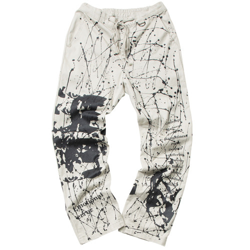 [이노반트] Emotion Artwork Printing Pants - Beige(12월 05일 예약발송)