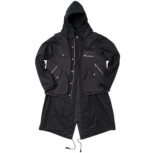 [이노반트] Two Pieces Field Jacket - Black