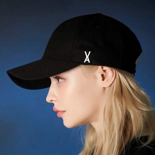 [바잘] Stud logo over fit ball cap black