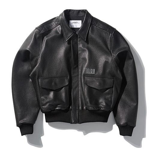 [노매뉴얼] NM A-2 LEATHER JACKET - BLACK