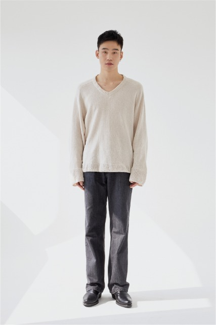 [로렘입숨] Grey Slub Denim