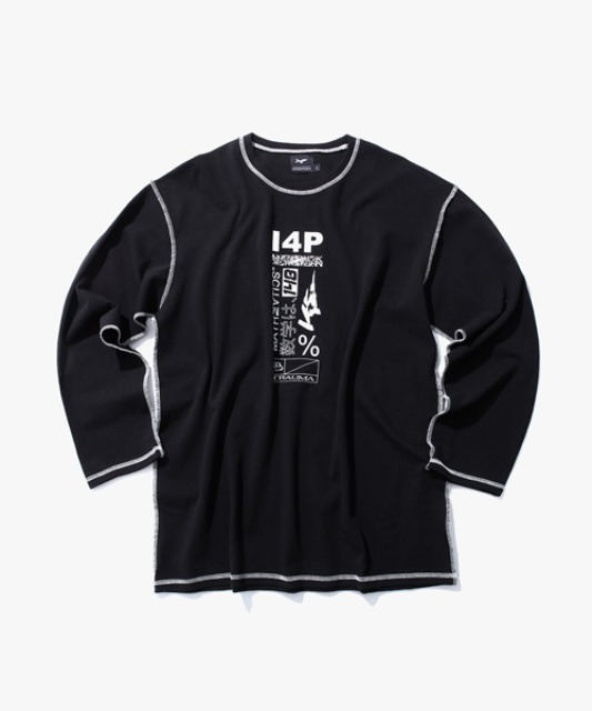 [아이사피] I4P Stitch Long Sleeve (Trauma ver) Black