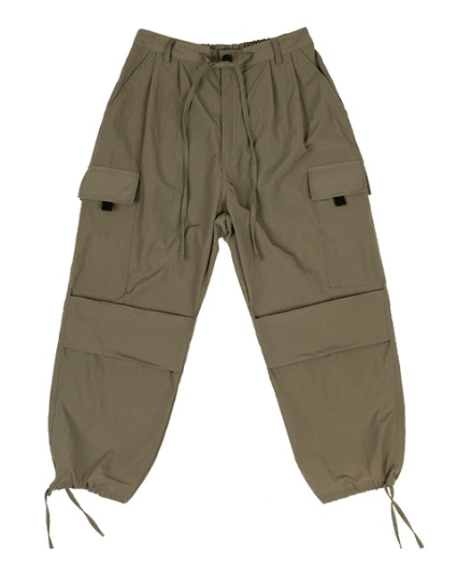 [피스메이커] NYLON 2 TUCK POCKET PANTS (KHAKI OLIVE)