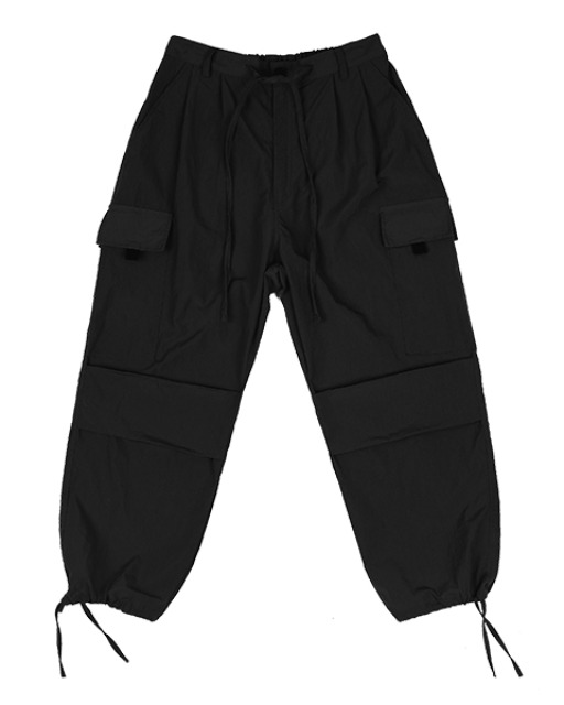 [피스메이커] NYLON 2 TUCK POCKET PANTS (BLACK)