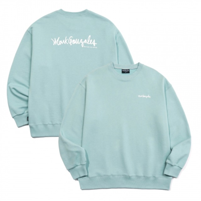 [마크곤잘레스] M/G SMALL SIGN LOGO CREWNECK VINTAGE GREEN -오프라인