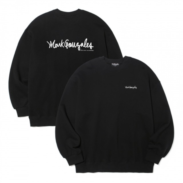 [마크곤잘레스] M/G SMALL SIGN LOGO CREWNECK BLACK -오프라인