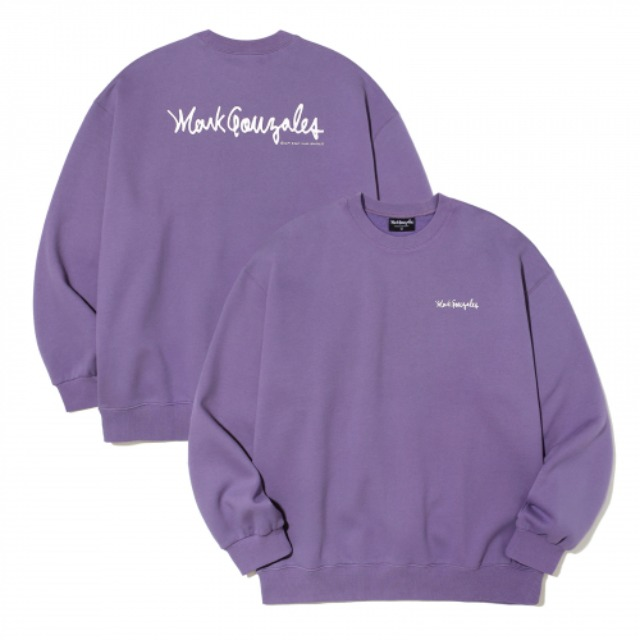 [마크곤잘레스] M/G SMALL SIGN LOGO CREWNECK PURPLE -오프라인