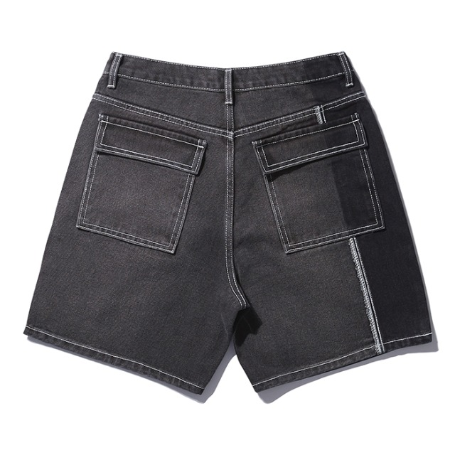 [노매뉴얼] PANELD DENIM SHORTS - CHARCOAL