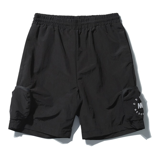 [노매뉴얼] NYLON CARGO SHORTS - BLACK