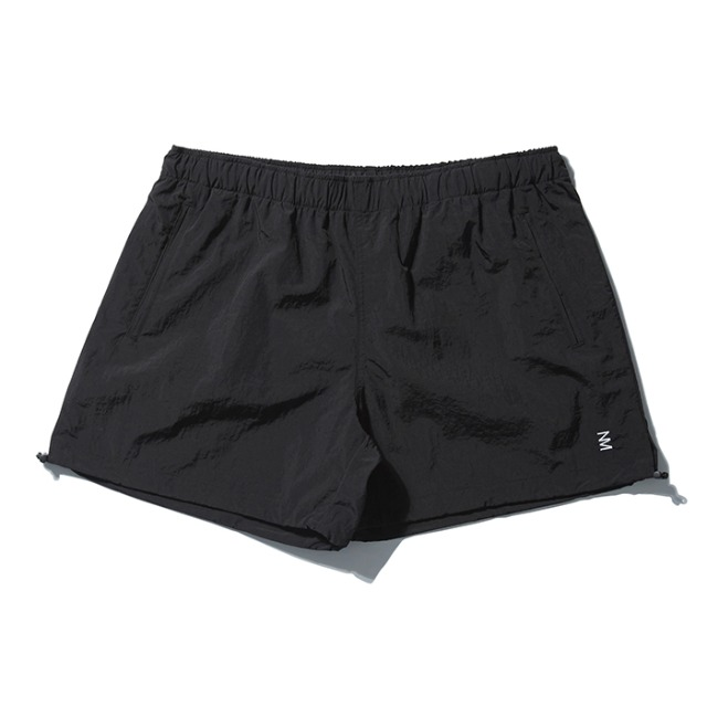 [노매뉴얼] PUMPKIN NYLON SHORTS - BLACK