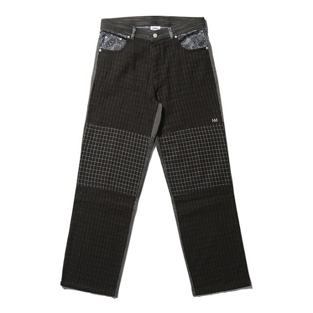 [노매뉴얼] MULTI PATTERN PANTS - BLACK