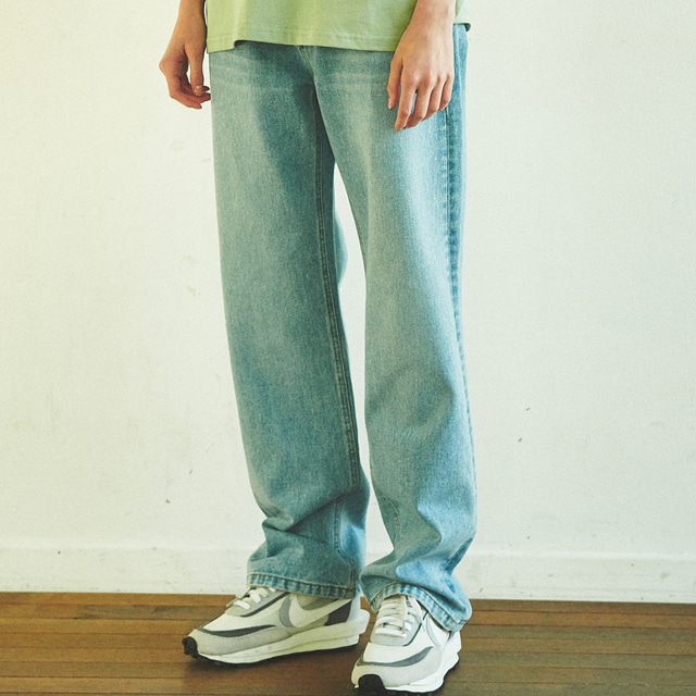 [언아웃핏]UNISEX WIDE FIT DENIM PANTS LIGHT BLUE