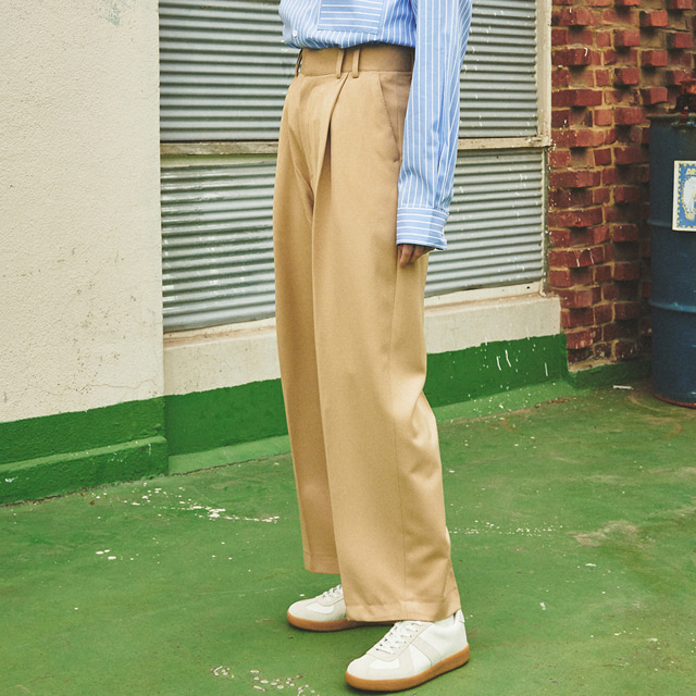 [언아웃핏]UNISEX WIDE VOLUME SLACKS BEIGE