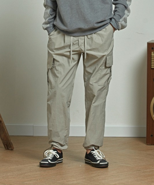 [프리즘웍스] CARGO STRING PANTS _ LIGHT GRAY