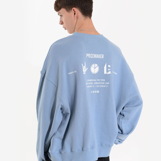 [피스메이커] PM ICON SWEAT SHIRTS (SKY BLUE)