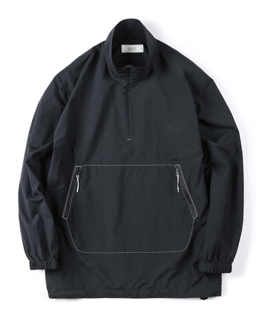 [셔터] ZIP-UP ANORAK SHIRT black