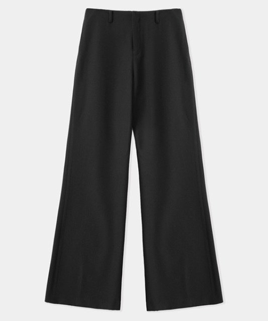 [밈더워드로브] ANDER Wool Semi Wide Pants Black (set-up)