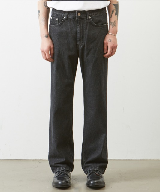 [무심] regular straight jean BLACK