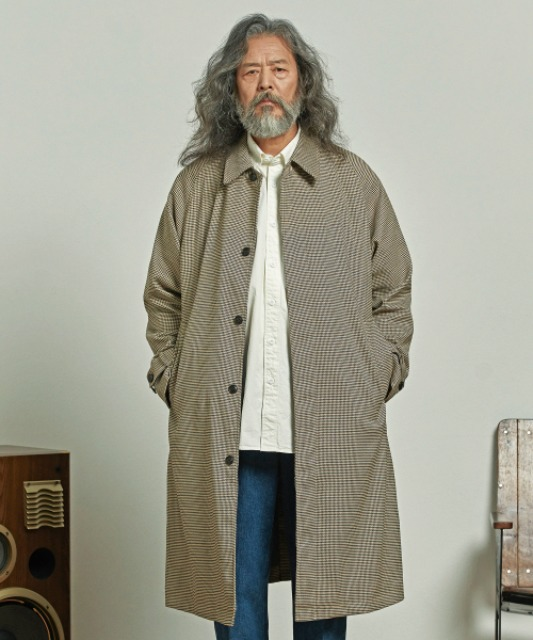 프리즘웍스 OVERSIZED BALMACAAN COAT _ HOUNDTOOTH