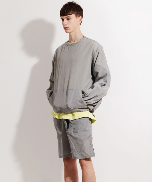 [피스메이커] NYLON CREW SHORTS SET (LIGHT GREY)