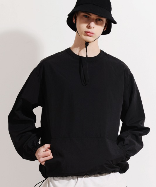 [피스메이커] NYLON WINDBREAKER CREW (BLACK)