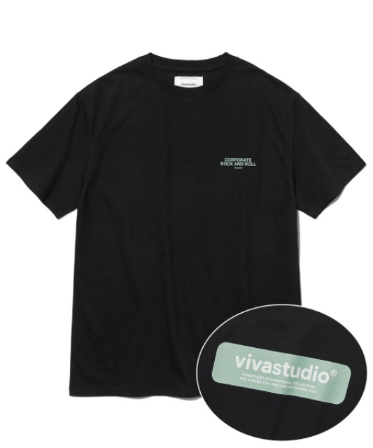 [비바스튜디오] BOX LOGO SHORT SLEEVE JS [BLACK]
