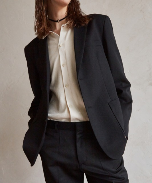 [4/16 예약배송][핸스] Wool Gabardine Set-up Blazer (Black)