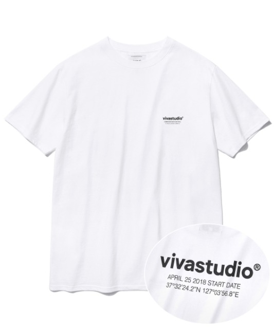 [비바스튜디오] LOCATION SHORT SLEEVE JS [WHITE]