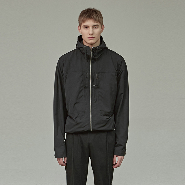 [에이글로우] HOOD WINDBREAKER JACKET_BLACK