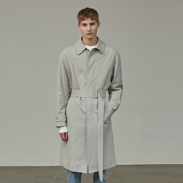 [에이글로우] MINIMAL TRENCH COAT_GRAY