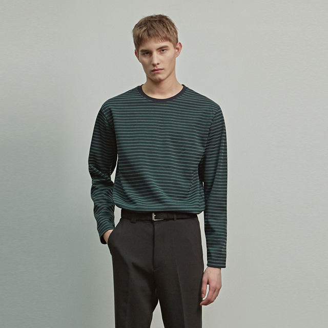 [에이글로우] STANDARD STRIPE LONG SLEEVE_GREEN