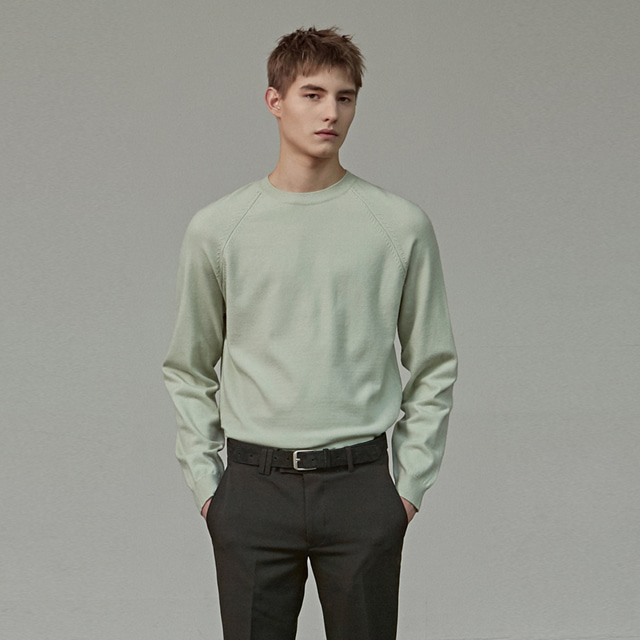 [에이글로우] BASIC ROUND KNIT_MINT